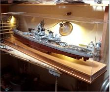 Battleship Model Display Case