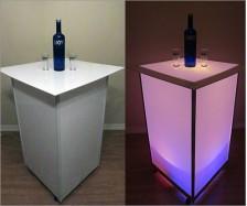 Lighted Acrylic Cocktail Table