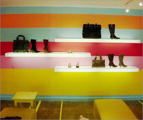 Lighted Shoe Display Shelves