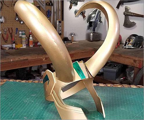 Cosplay Loki Helmet