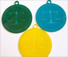 Colored Acrylic Medals