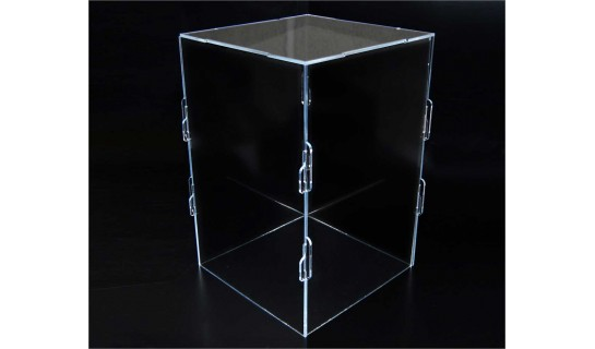 Clear Acrylic Collapsible Box 6 in x 6 in x 9 in