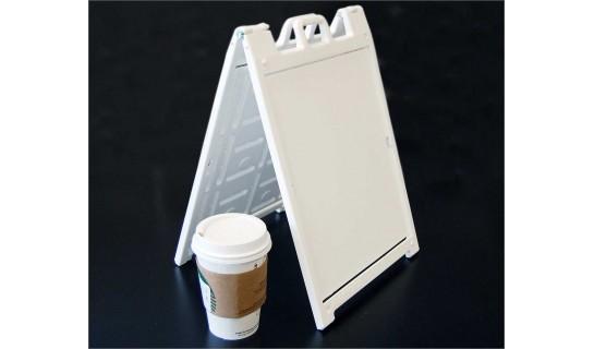 Mini Signicade Deluxe 13.75 in x 9.50 in x .875 in - White