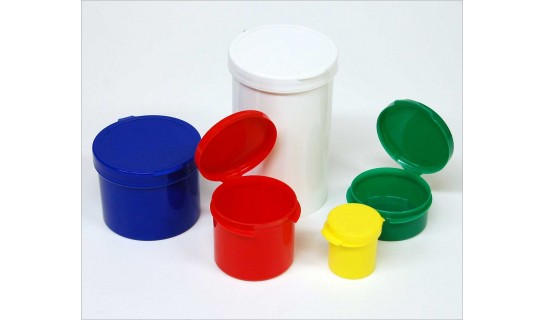 Hinged Containers 1/4 oz Yellow (10 ct)
