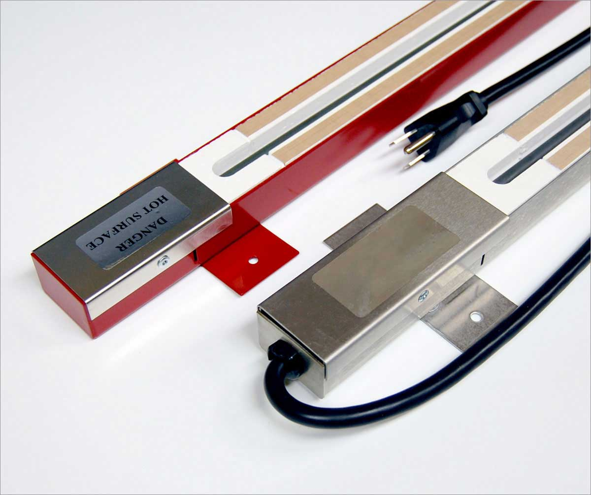 TFCFL 12 30cm/24 60cm Acrylic PVC Plastic Strip Heater 110V 300W ...