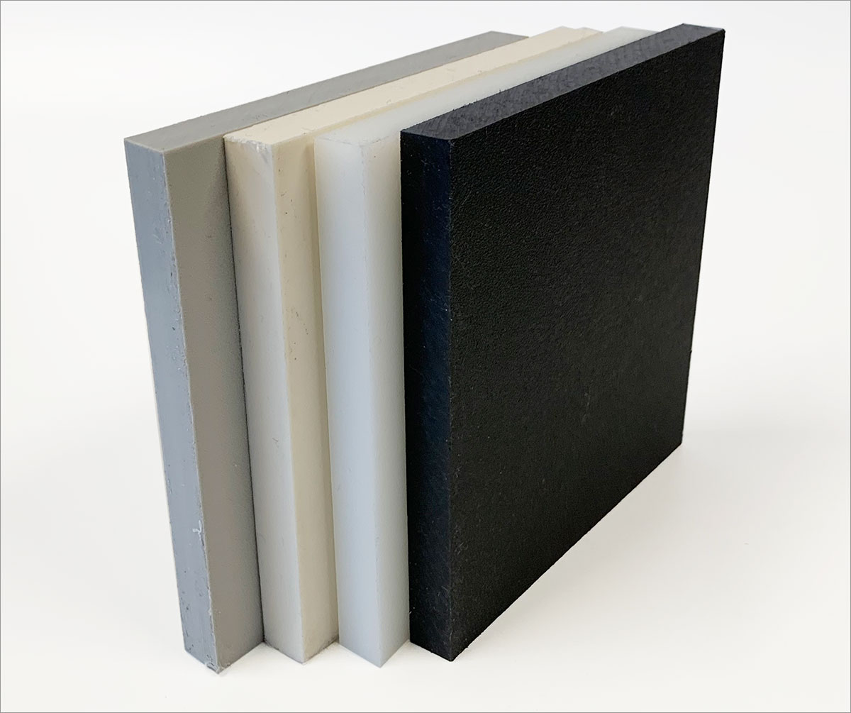 "Made in USA 1//16/"" Thick x 24/"" Wide x 4/' Long PVC Sheet Gray Type I PVC Grade"