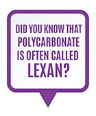 Did you know that polycarbonate is often called Lexan?
