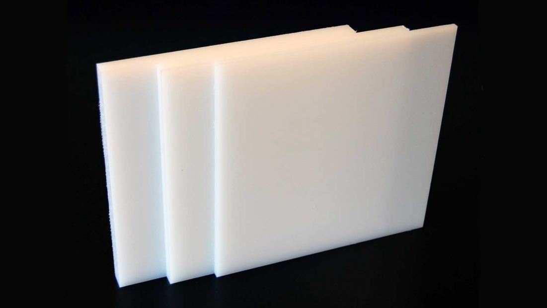 Textured thick white HDPE plastic sheets