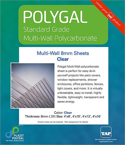 Polygal Standard Grade Multi-Wall Polycarbonate Sheet : TAP